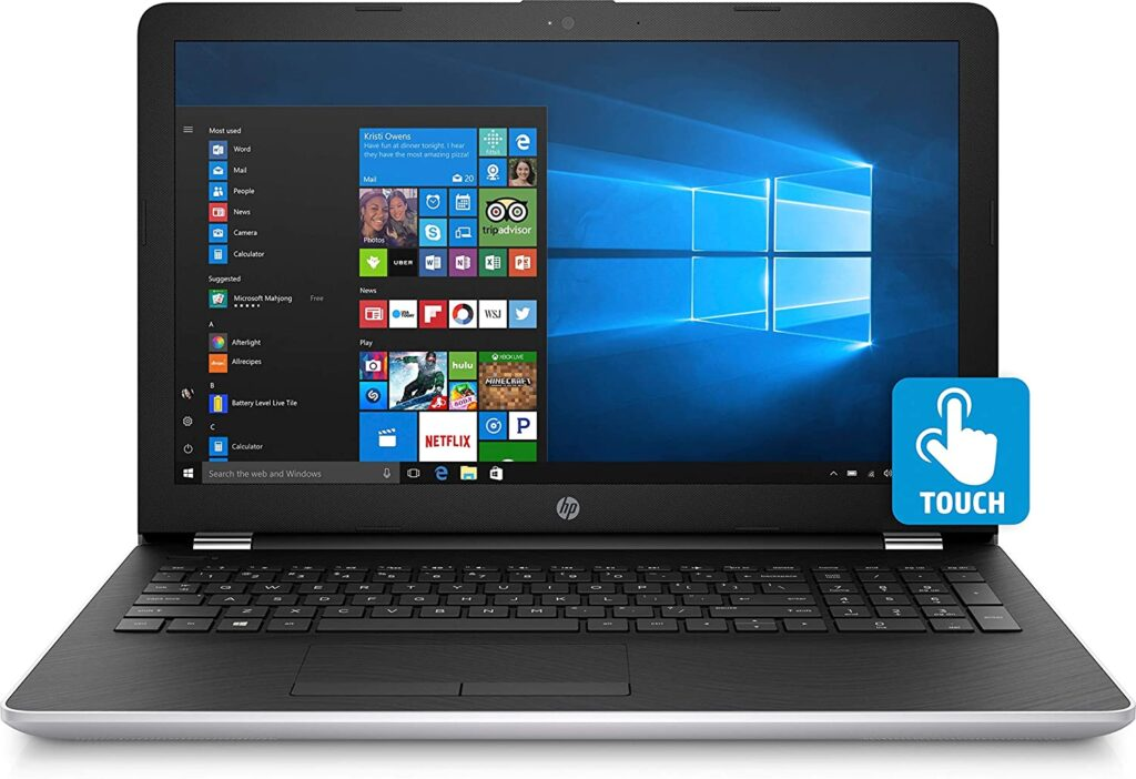 HP 15.6 inch touchscreen,