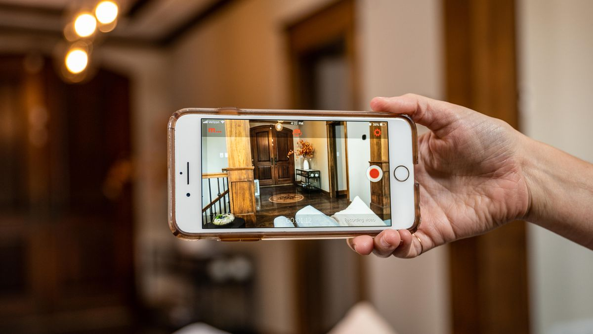 android smartphone into a security camera