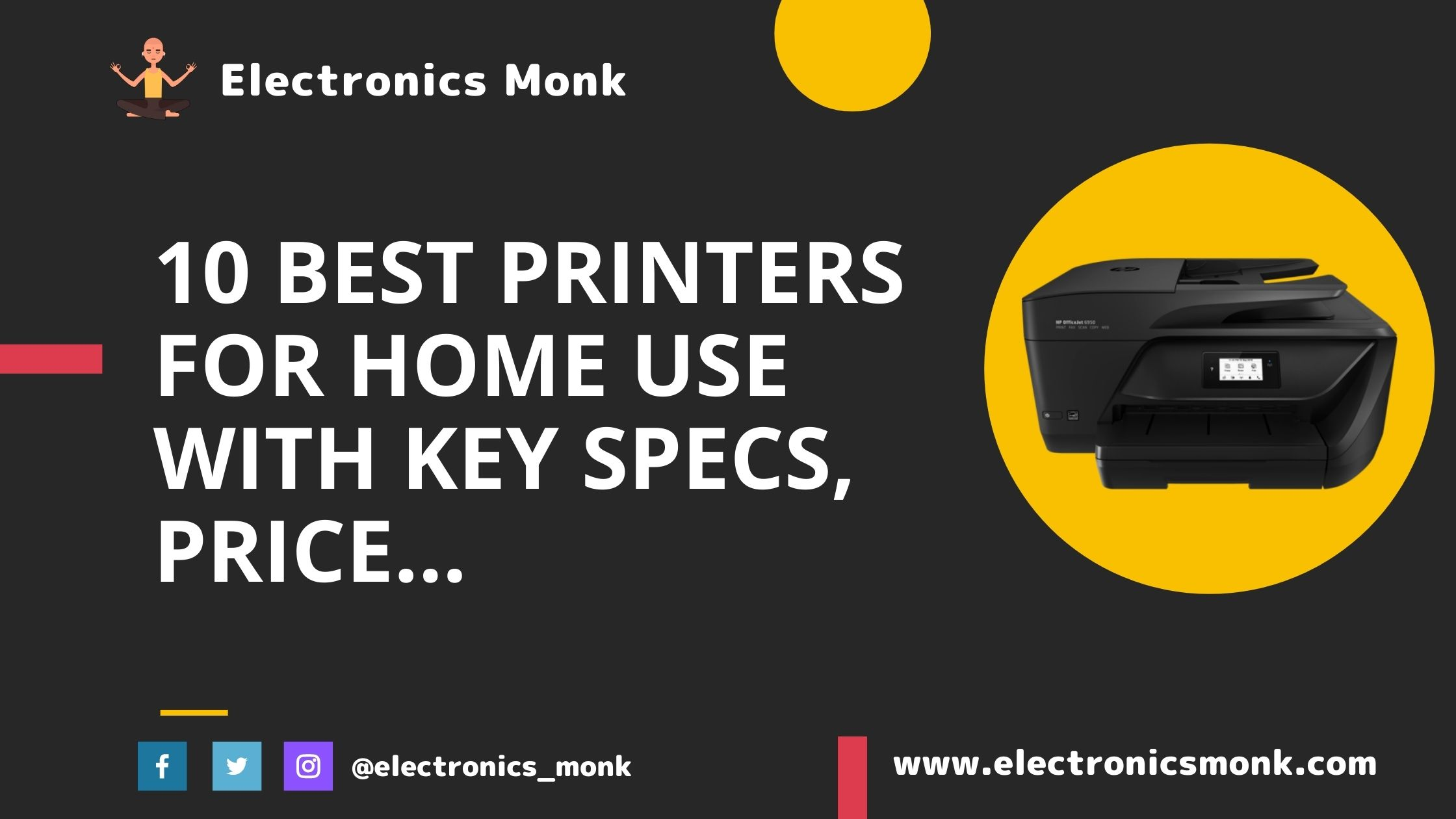 10 Best Printers for Home Use with Key Specs, Price