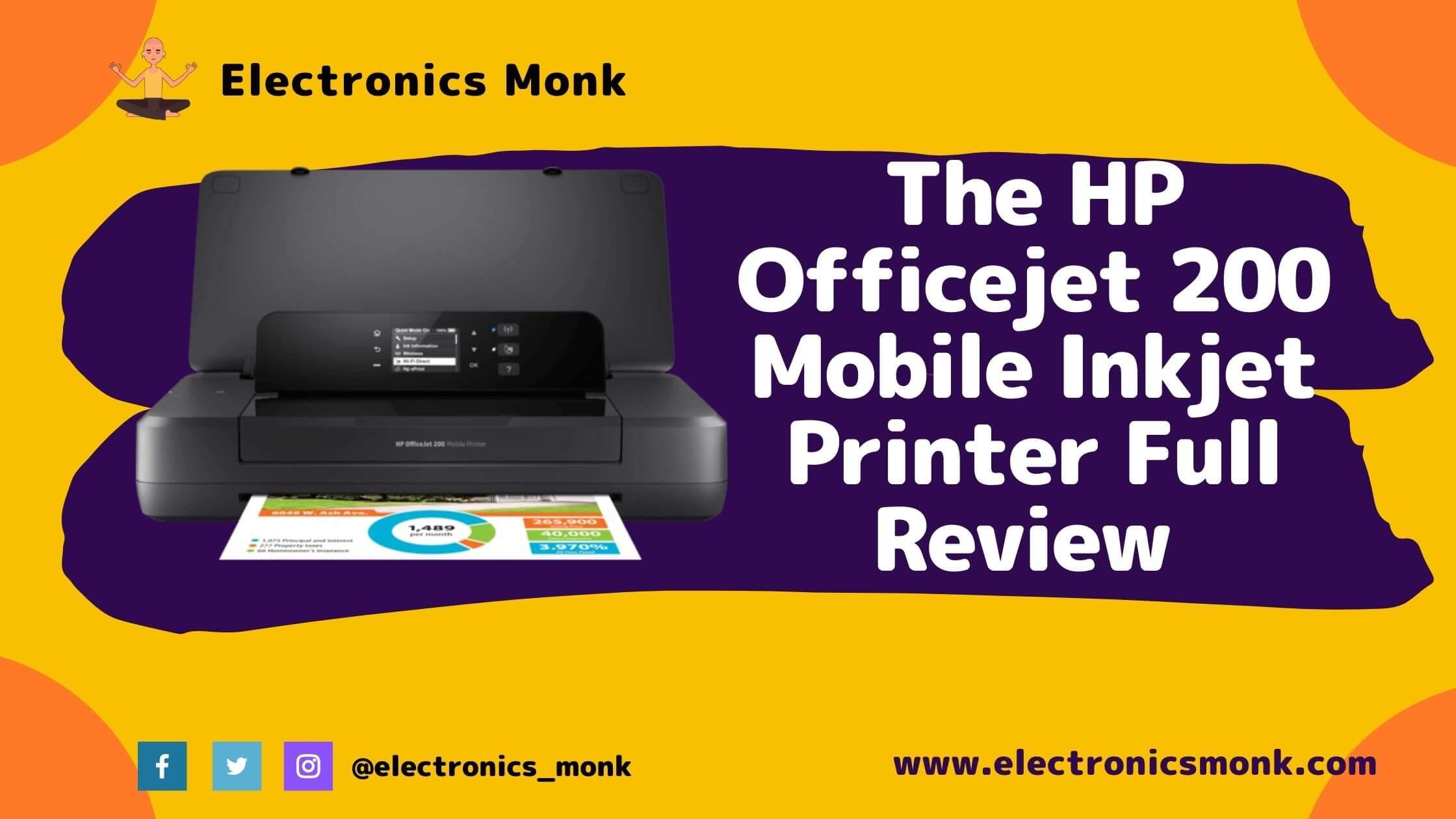 The HP OfficeJet 200 Mobile Inkjet Printer Full Review