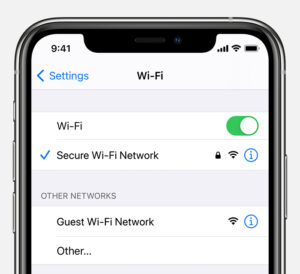 Select a Secure network