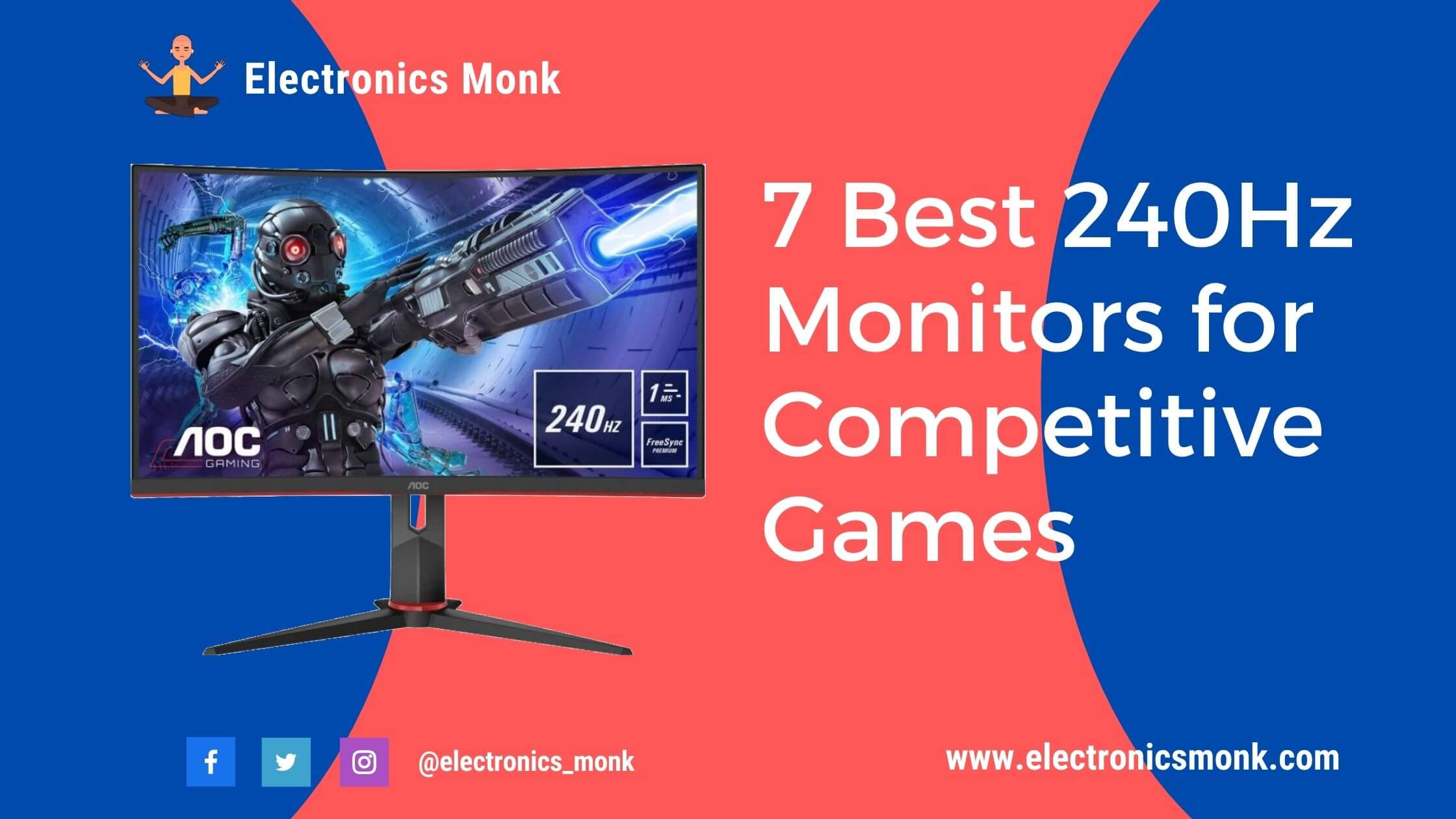 7 Best 240Hz Monitors for Competitive Games