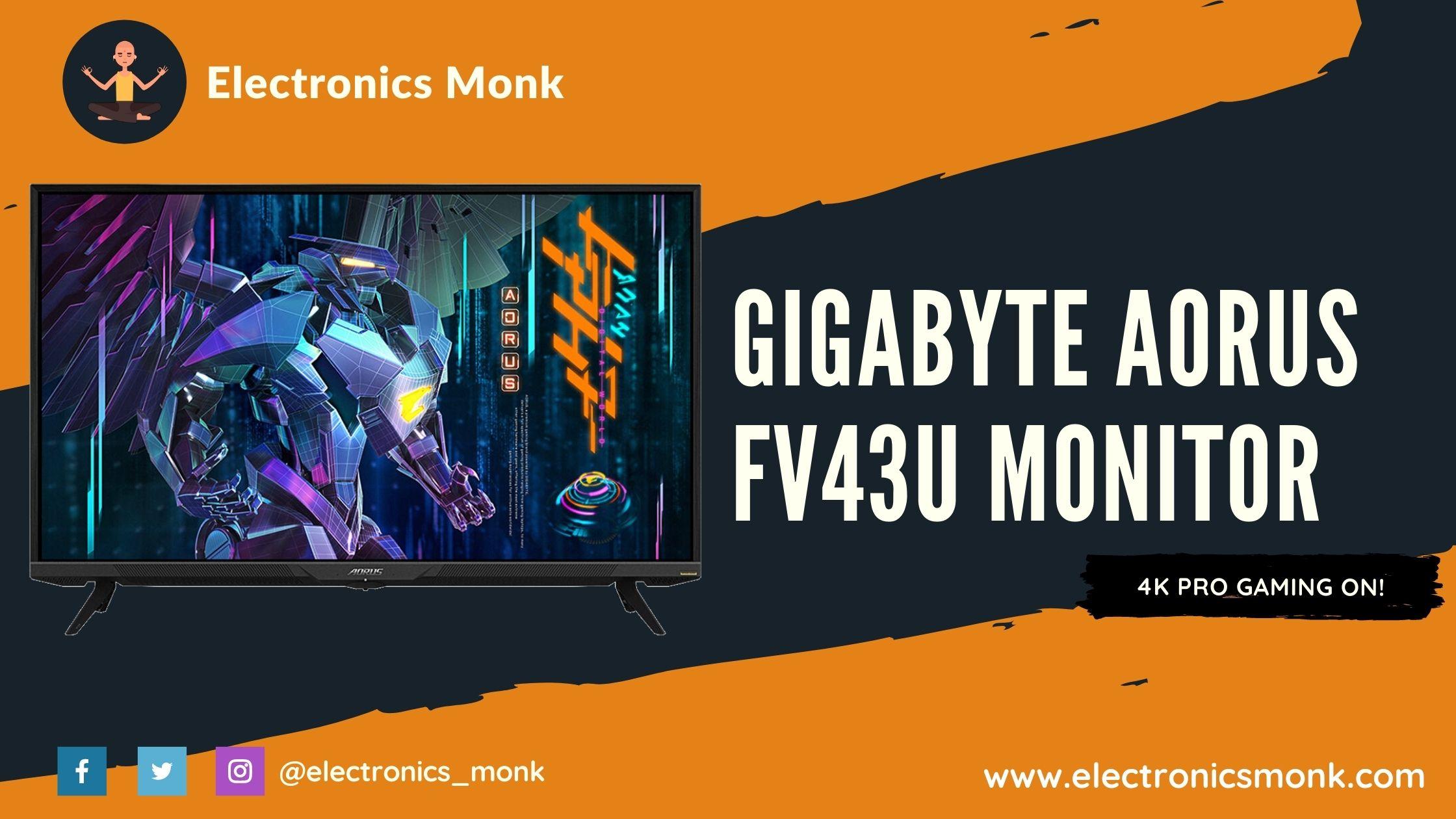 Gigabyte Aorus Fv43u Gaming Monitor Review