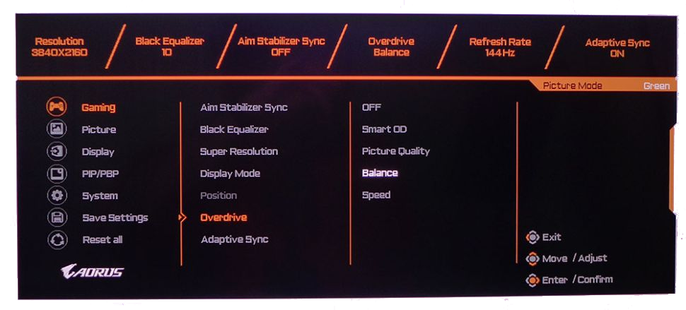 OSD Features of Monitor
