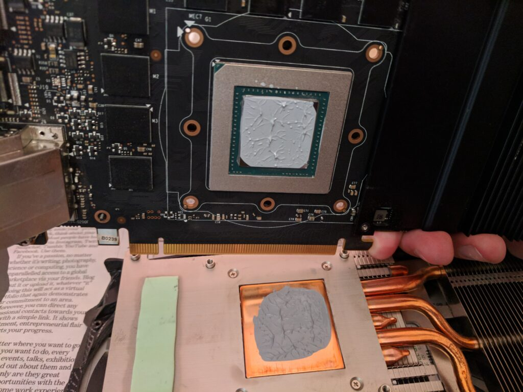 Old thermal paste of Graphics Cards