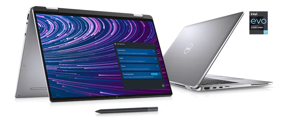Display of Dell Latitude 9520 2-in-1 Laptop