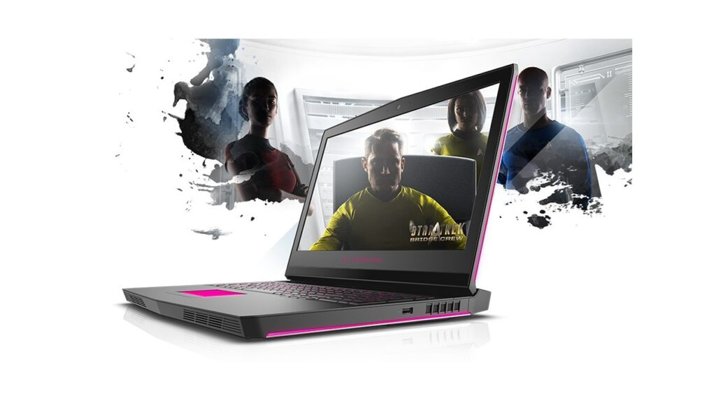 Display of Dell Alienware 17 R4