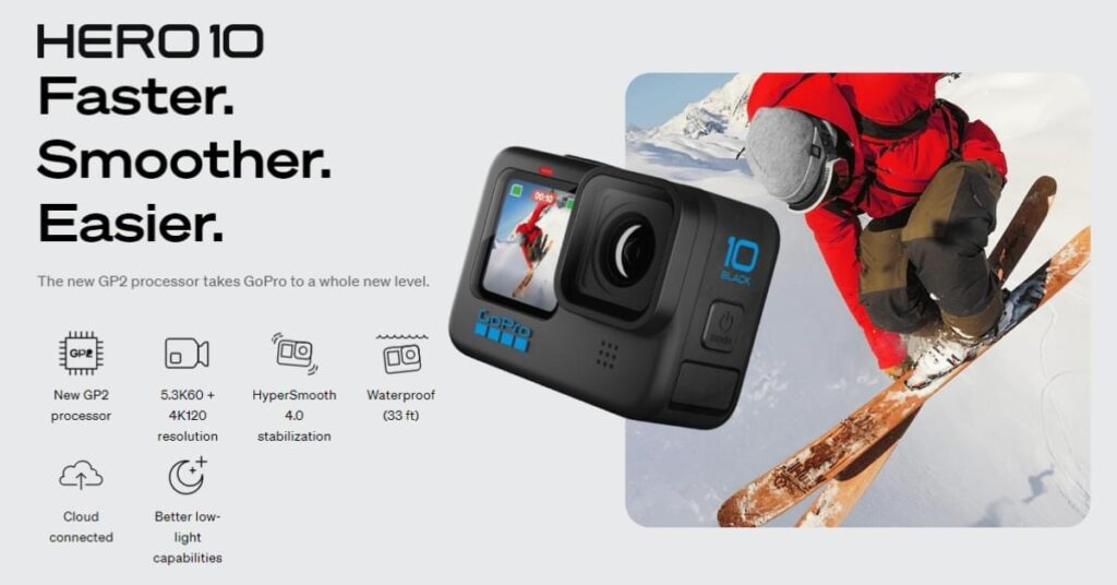 HyperSmooth 4.0 of GoPro Hero 10 Black