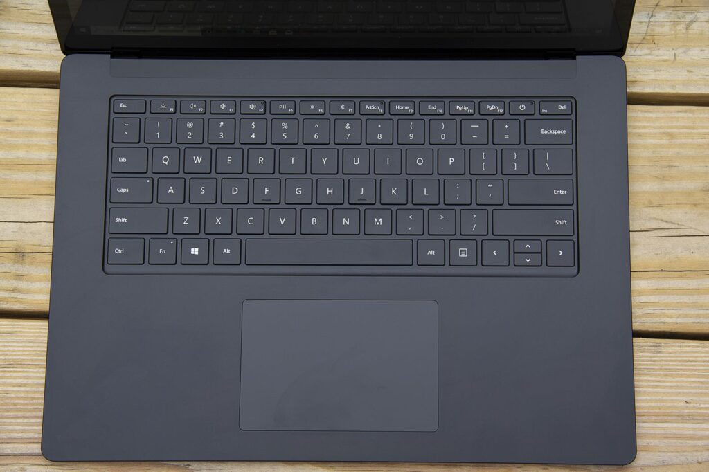Keyboard and Touchpad of Microsoft Surface Laptop 4