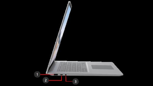 Ports of Microsoft Surface Laptop 4-