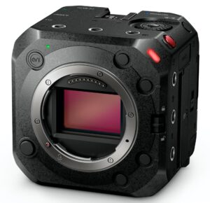 Front Controls and Lens Mount of Camera